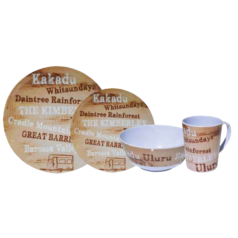 Coast 100% Melamine 16pcs Dinner Set - DESTINATIONS