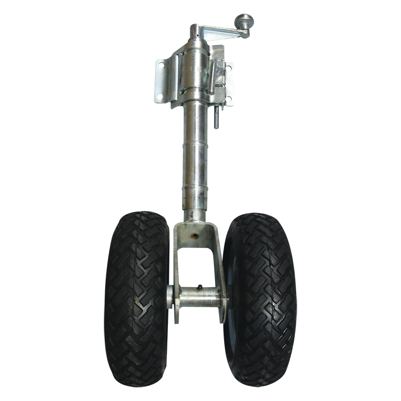 Solid Rubber Twin Jockey Wheel With Clamp