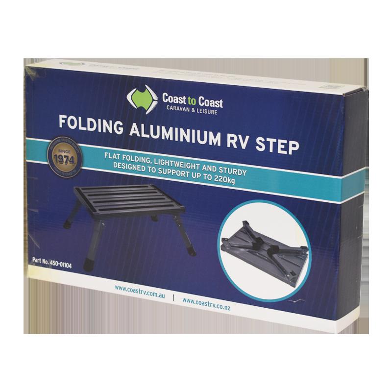COAST Folding ALUMINUM RV Step (220kg Capacity)