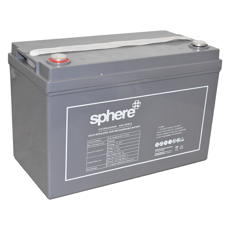 Sphere 12V 120AH Valve Regulated AGM Rechargeable Battery