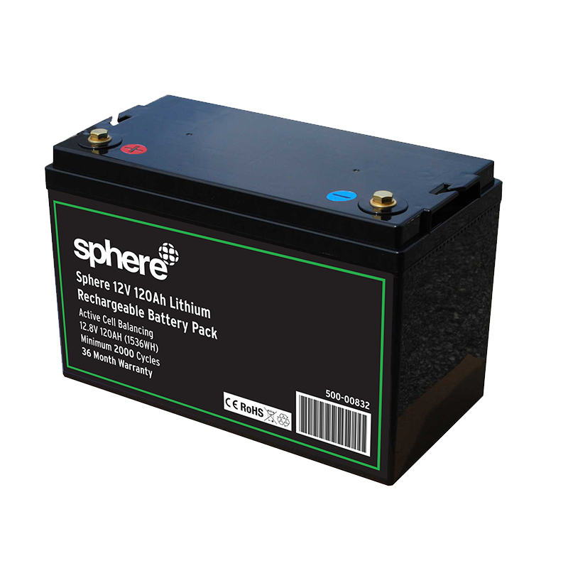 Sphere 12V 120AH Lithium Rechargeable Battery.