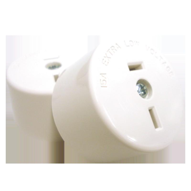 Fixed Polarity Socket White - 402/32