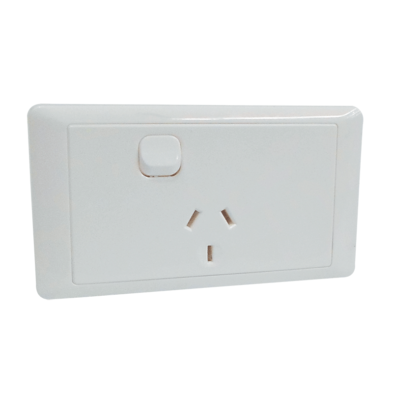 CMS Single Power Outlet (White)