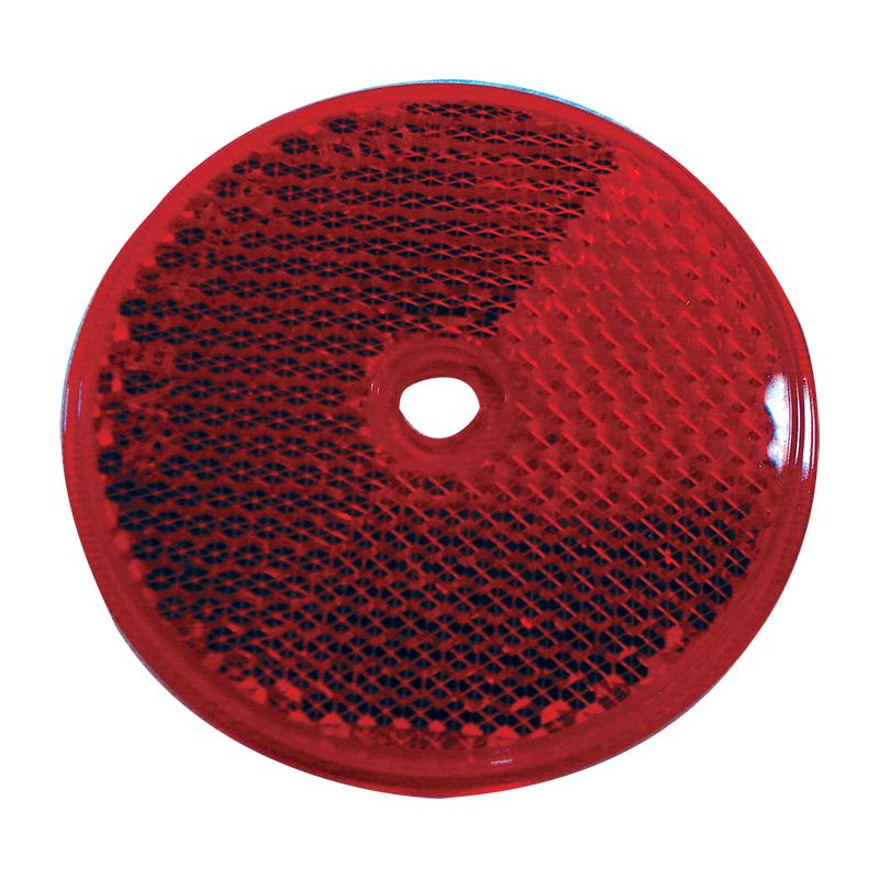 Round Reflex Reflector - Red