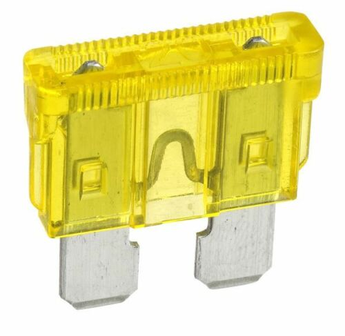 NARVA 20 Amp YELLOW ATS Blade Fuse - 50 Per Box. 52820