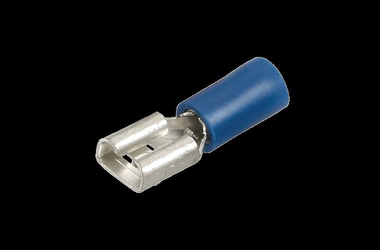 NARVA 6.3x0.8mm BLUE Female Blade TERMINAL t/s 4mm - 100 Per Box. 56136