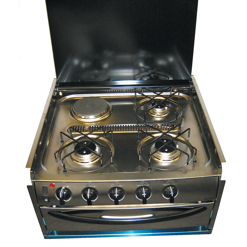 Smev 402 S/Steel 3 Gas & 1 Electric Cooktop & Grill