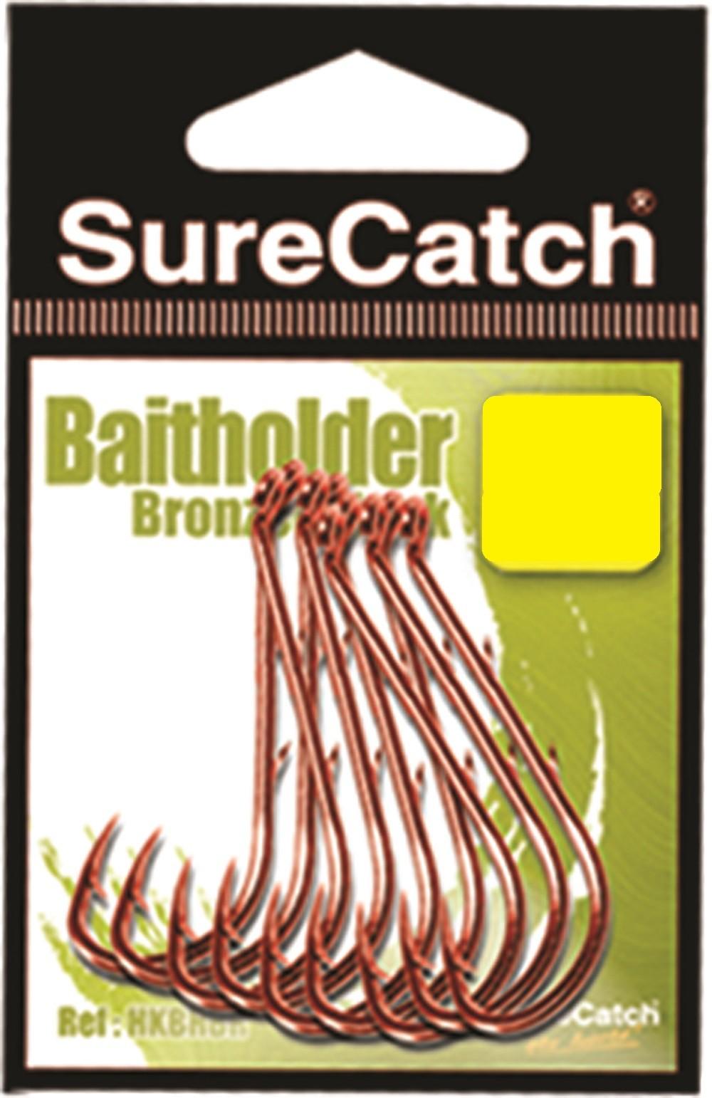 Sure Catch Bronze Baitholder Hook (7 per Pack) - Size 2/0