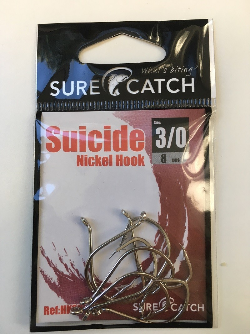 Sure Catch Suicide Hook (8 Per Pack) - Size 3/0