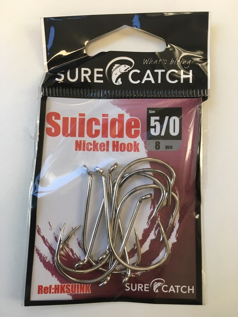 Sure Catch Suicide Hook (8 Per Pack) - Size 5/0
