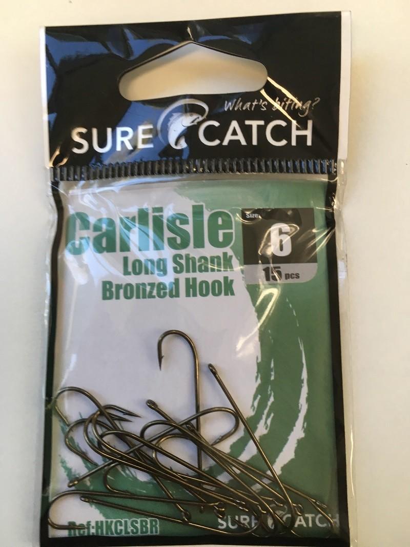 Sure Catch Bronze Carlisle Long Shank (15 per Pack) - Size 6