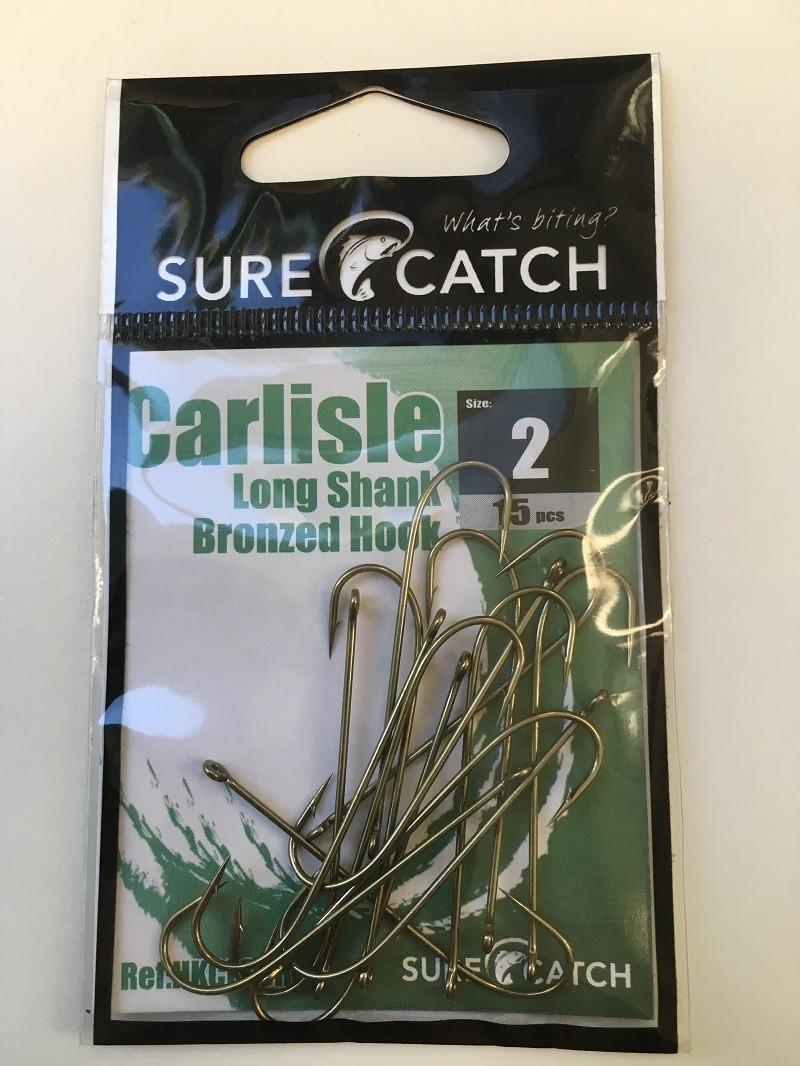 Sure Catch Bronze Carlisle Long Shank (15 per Pack) - Size 2