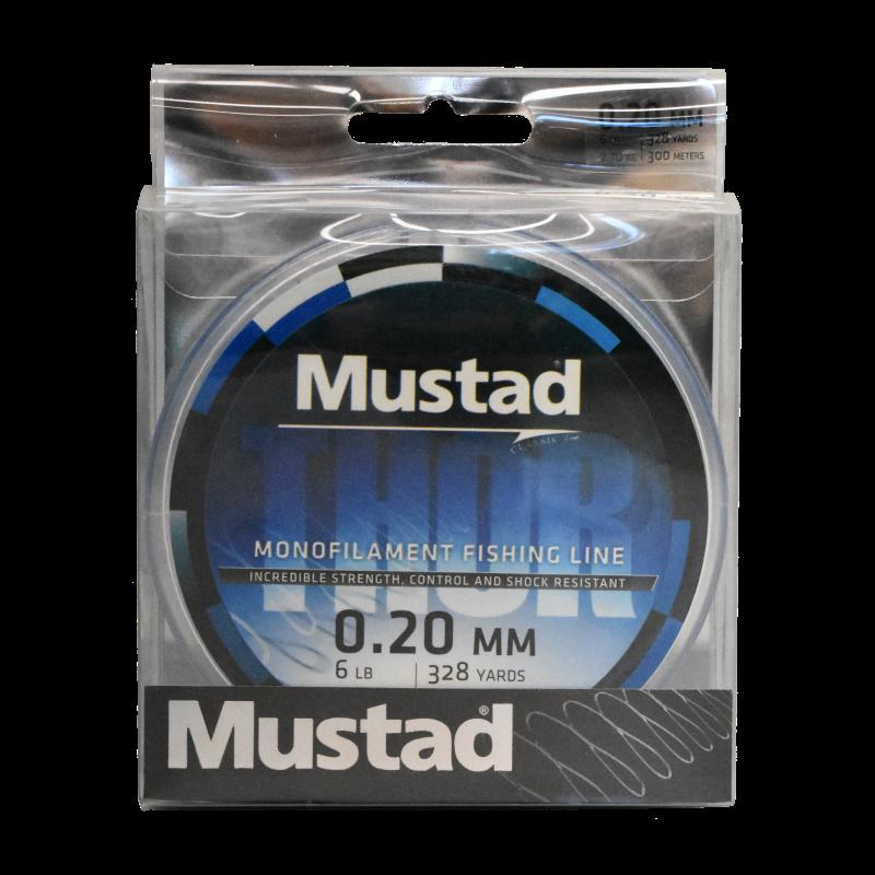 Mustad Premium THOR Monofilament Fishing Line 300m Sea Blue - 6lb