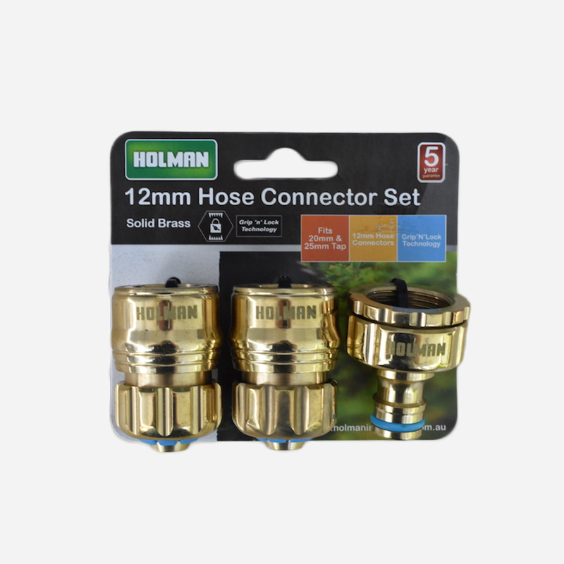 Brass Hose Connector Set 12mm