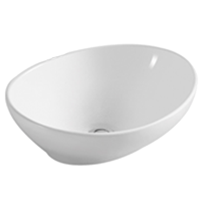 White Oval Ceramic Bathroom Basin