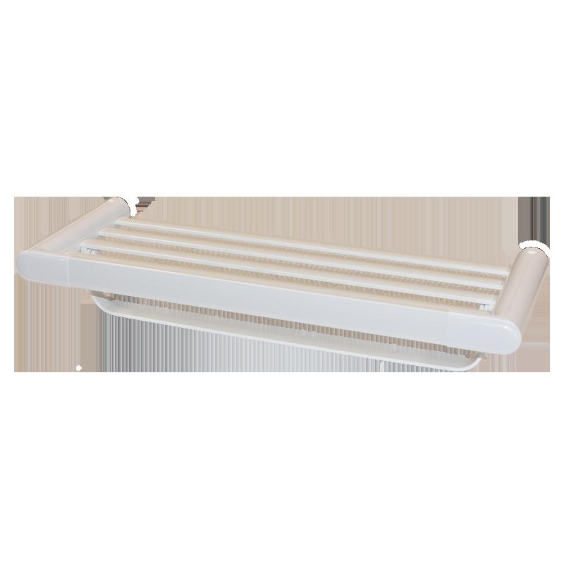 COAST Bathroom Towel Shelf WHITE - 600x220x113mm (LxDxH)
