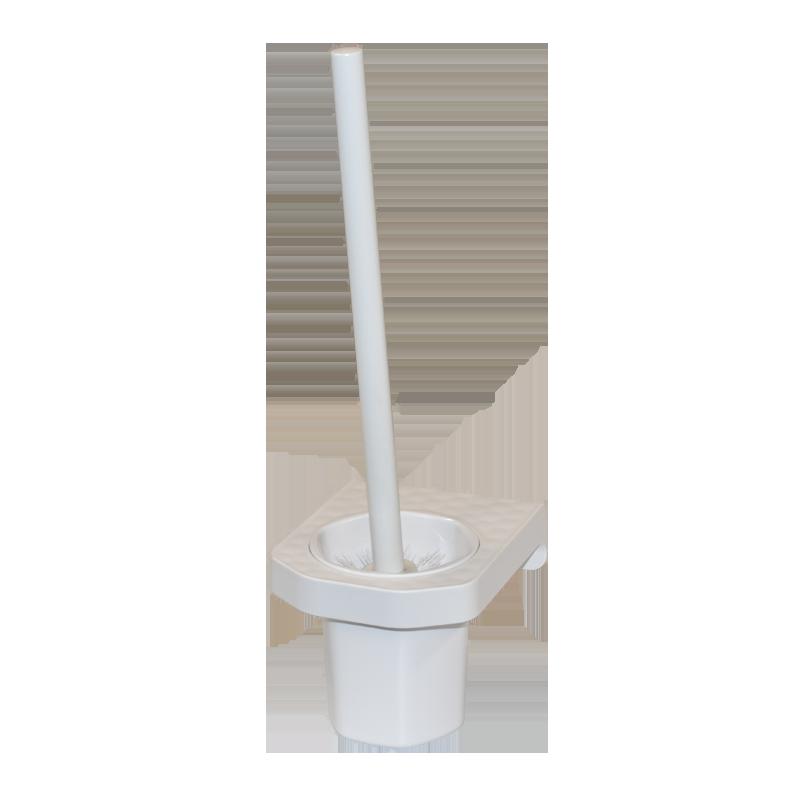 COAST Bathroom Toilet Brush & Holder WHITE - 112x133x370mm (LxDxH)