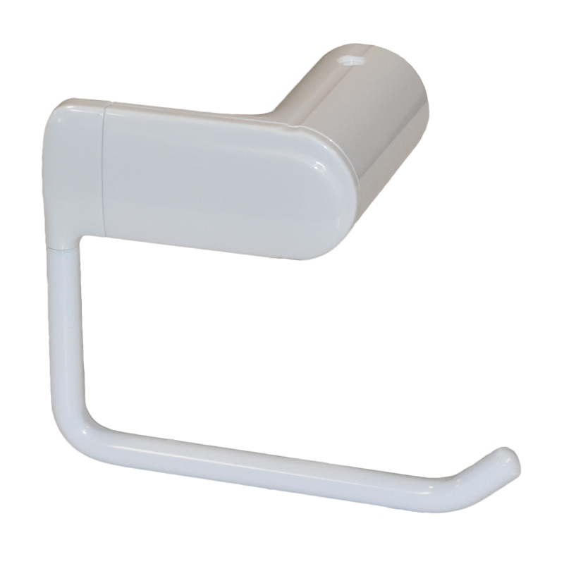 COAST Bathroom Toilet Roll Holder WHITE - 148x82x110mm (LxDxH)