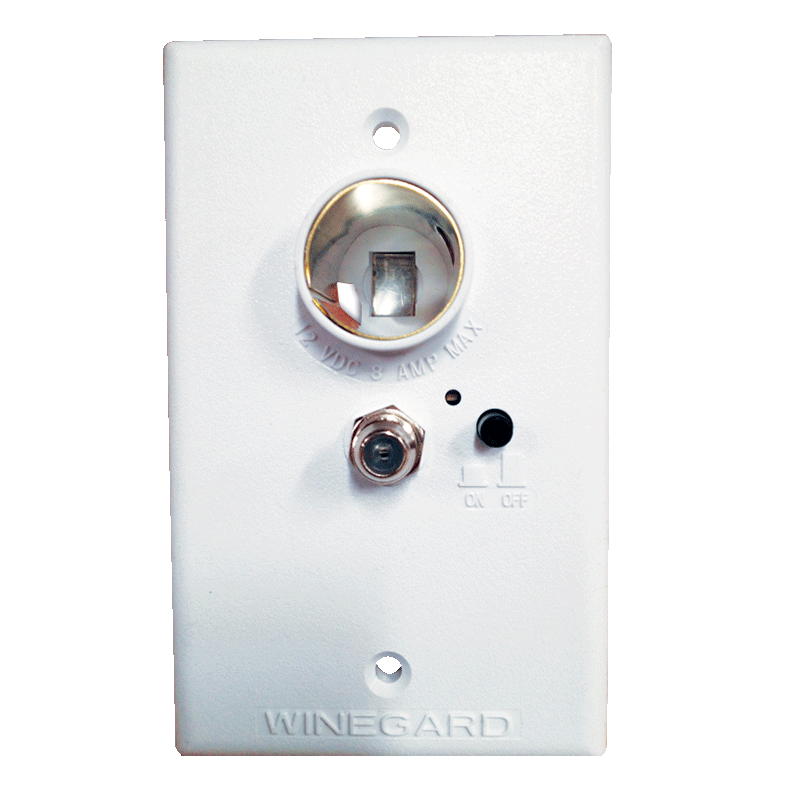 Winegard White 12V Power Supply (for tv antenna)