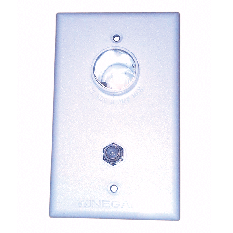 Winegard White 2nd TV Wall Plate Only