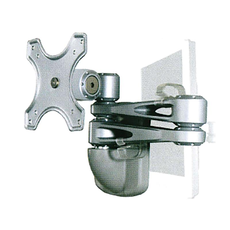 Sphere Double Arm Wall Mount Monitor Bracket (Silver)