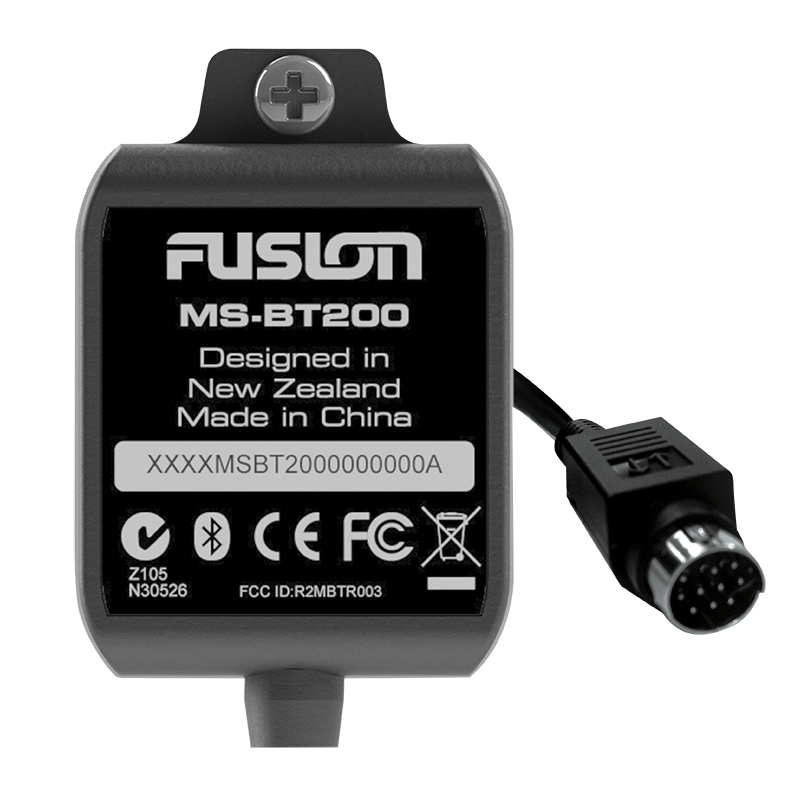 Fusion Marine Bluetooth Module with Data Display (MS-BT200)