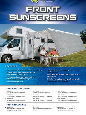 FRONT SUNSCREENS