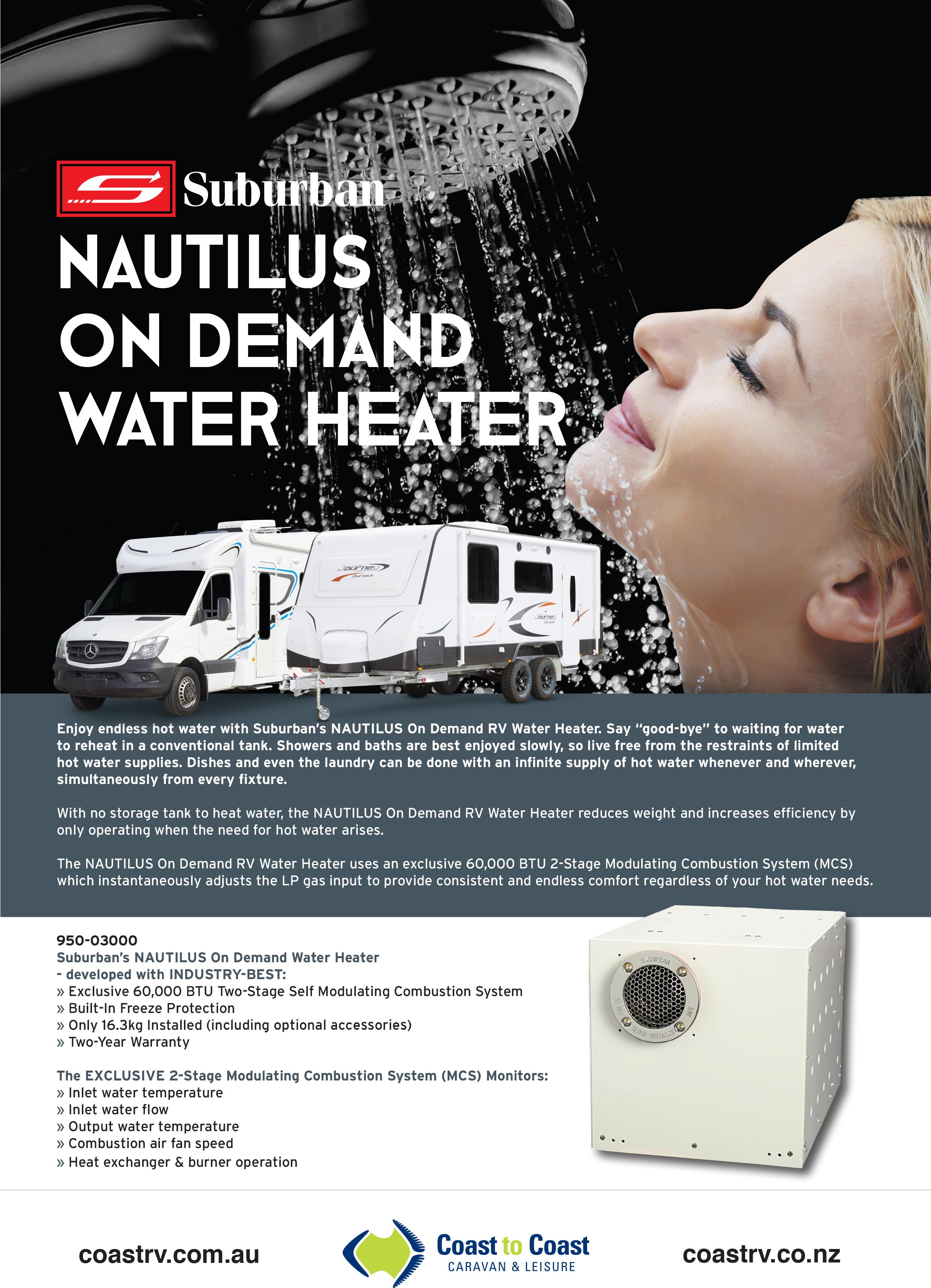 Suburban Nautilus On Demand Hot Water Heater